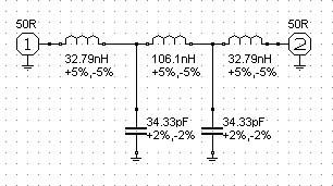 DJ9KW's 144MHz High Power low pass filter